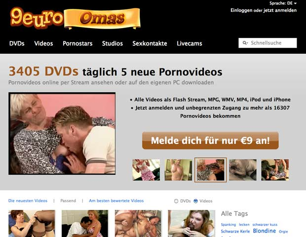 9 Euro Omas - billiger Omasex